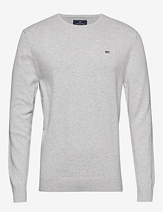 Bradley Crewneck Sweater - LT WARM GRAY MELANGE