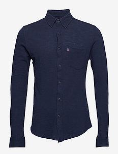 Irvin Pique Shirt - DEEP MARINE BLUE