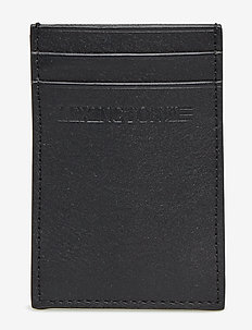 Hobson Leather Cardholder - CAVIAR BLACK