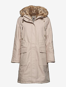 Biella Cotton Parka - parka coats - light beige
