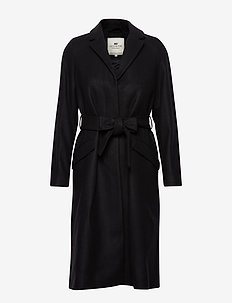 Heather Coat - BLACK
