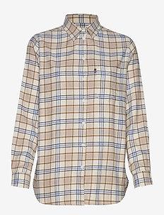 Isa flannel Shirt - BEIGE MULTI CHECK