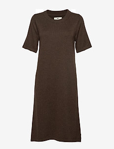 Amy Knitted Dress - BROWN MELANGE