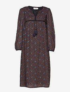 Nalia Dress - FEATHER PRINT