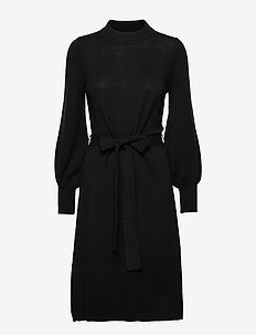 Jen Knitted Dress - BLACK
