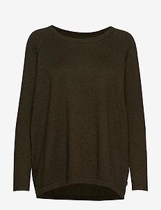 Lea Sweater - GREEN MELANGE