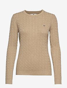 Felizia Cable Sweater - BEIGE MELANGE