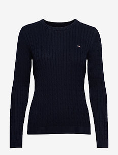 Felizia Cable Sweater - DARK BLUE