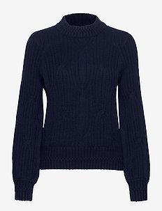 Trista Cable Sweater - BLUE