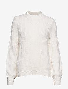 Trista Cable Sweater - WHITE