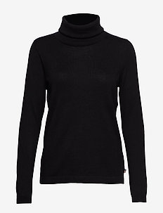Francoise Roll Neck Sweater - BLACK