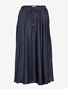 Della Satin Skirt - DARK BLUE