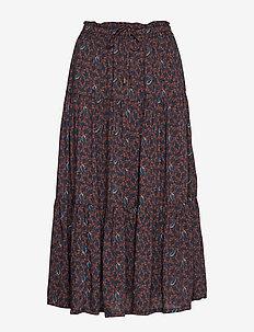 Evelyn Skirt - FEATHER PRINT