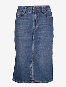 Millie Denim Skirt - jeansowe spódnice - medium blue denim