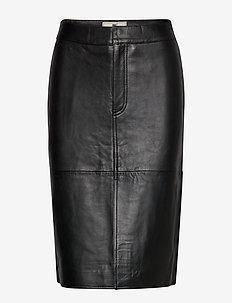 Millie Leather Skirt - BLACK