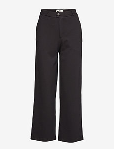 Cleo Tailored Jersey Pants - BLACK