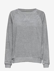 Martha Velour Sweatshirt - GRAY MELANGE