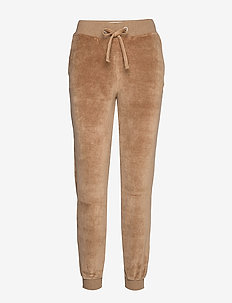 Minnie Velour Pants - BEIGE MELANGE