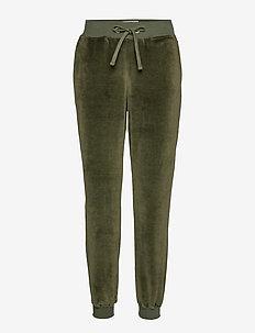 Minnie Velour Pants - GREEN