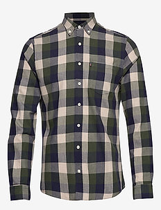 Peter Lt Flannel Shirt - GREEN MULTI CHECK