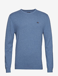 Bradley Crew Neck Sweater - BLUE MELANGE