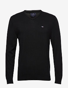 Allen V-Neck Sweater - BLACK