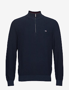 Clay Half Zip Sweater - DARK BLUE