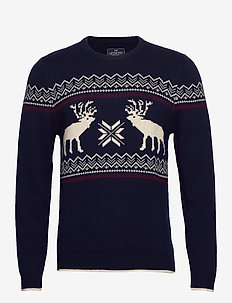 Jim Holiday Sweater - DARK BLUE