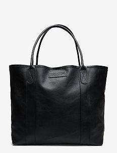 Mayflower Leather Tote Bag - BLACK
