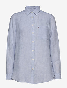 Isa Linen Shirt - BLUE/WHITE STRIPE