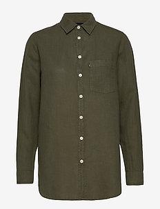 Isa Linen Shirt - dugim rękawem - green