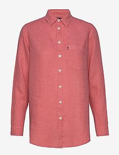 Isa Linen Shirt - dugim rękawem - pink