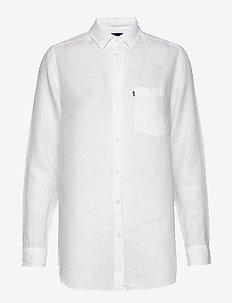 Isa Linen Shirt - pitkähihaiset paidat - white