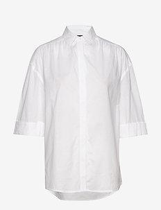 Olympia Shirt - kortærmede skjorter - white