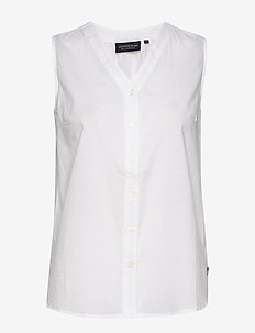 Eve Top - sleeveless tops - white