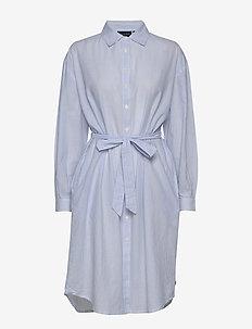 Renee Shirt Dress - skjortekjoler - blue/white stripe