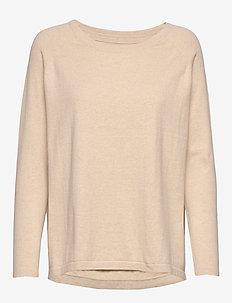 Lea Sweater - gensere - beige melange