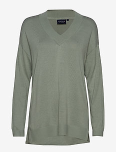 Ana V-neck Sweater - GREEN