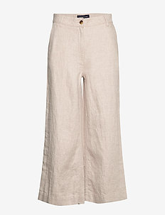 Lina Linen Pants - vide bukser - light beige
