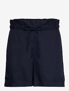 Johanna Lyocell Shorts - paper bag shorts - dark blue