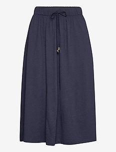 Jenni Jersey Skirt - midi kjolar - blue