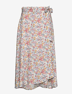Rose Wrap Skirt - midi kjolar - meadow print