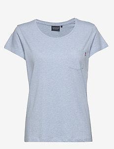 Ashley Jersey Tee - t-shirts - light blue melange