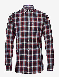 Clive Checked Shirt - RED MULTI CHECK