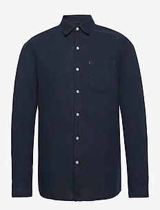 Ryan Linen Shirt - chemises basiques - dark blue