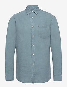 Ryan Linen Shirt - basic shirts - light blue