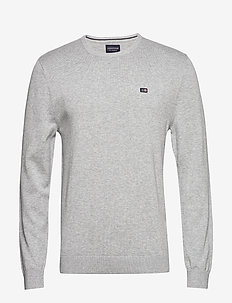 Bradley Crew Neck Sweater - GRAY MELANGE