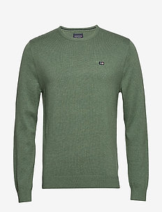 Bradley Crew Neck Sweater - GREEN MELANGE