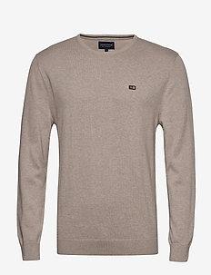 Bradley Crew Neck Sweater - perusneuleet - beige melange