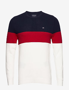 Graham Sweater - RED MULTI STRIPE